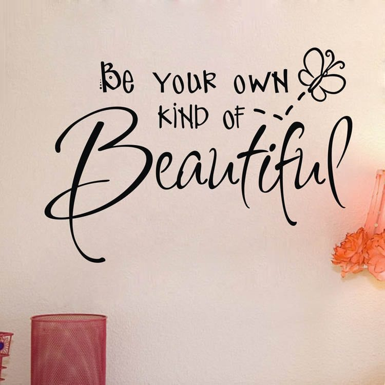 2014-hot-wall-sticker-be-your-own-kind-of-beautiful-cut-vinyl-wall-quote-Sticker-girls