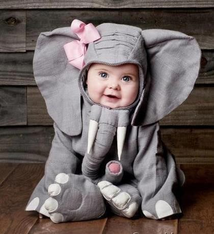 Cute-Baby-In-Funny-Elephant-Dress