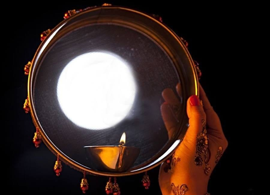 Karva Chauth seeing moon hd wallpapers