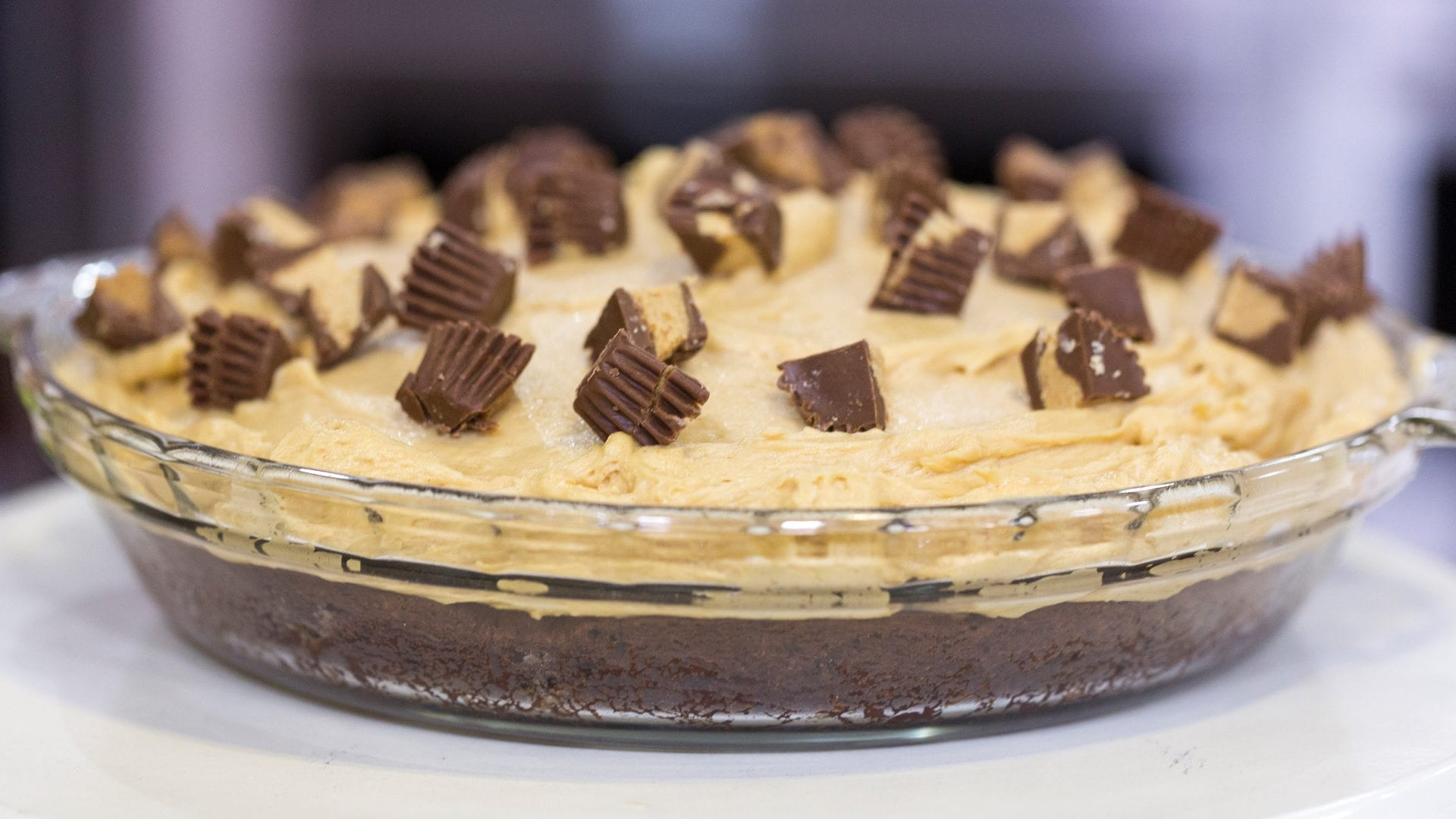 TODAY Show: Brandi Milloy of PopSugar whips up a brownie bottom peanut butter pie on TODAY. -- November 9, 2015