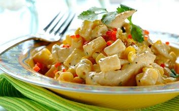 Cheesy chicken and corn pasta