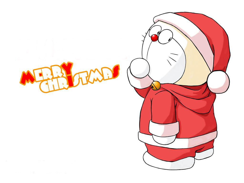 Christmas Doraemon Cartoon Wallpaper