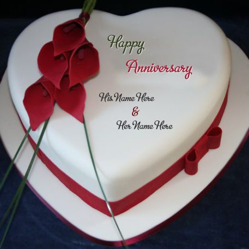 Happy-Anniversary-wishes-cake-with-flower-design