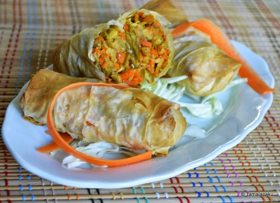 Maggi Noodles-Vegetable Spring Rolls-001