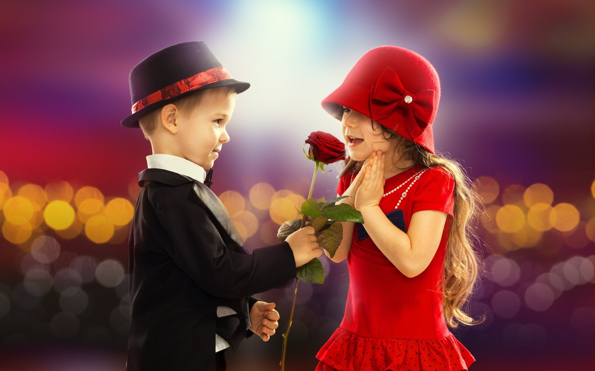 Love Wallpapers With Boy And Girl : cute Baby Love