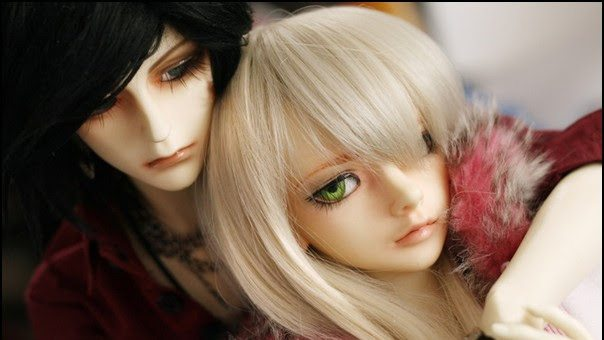 doll-couple-hug-cute
