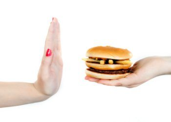 "say ""no"" to unhealthy food"