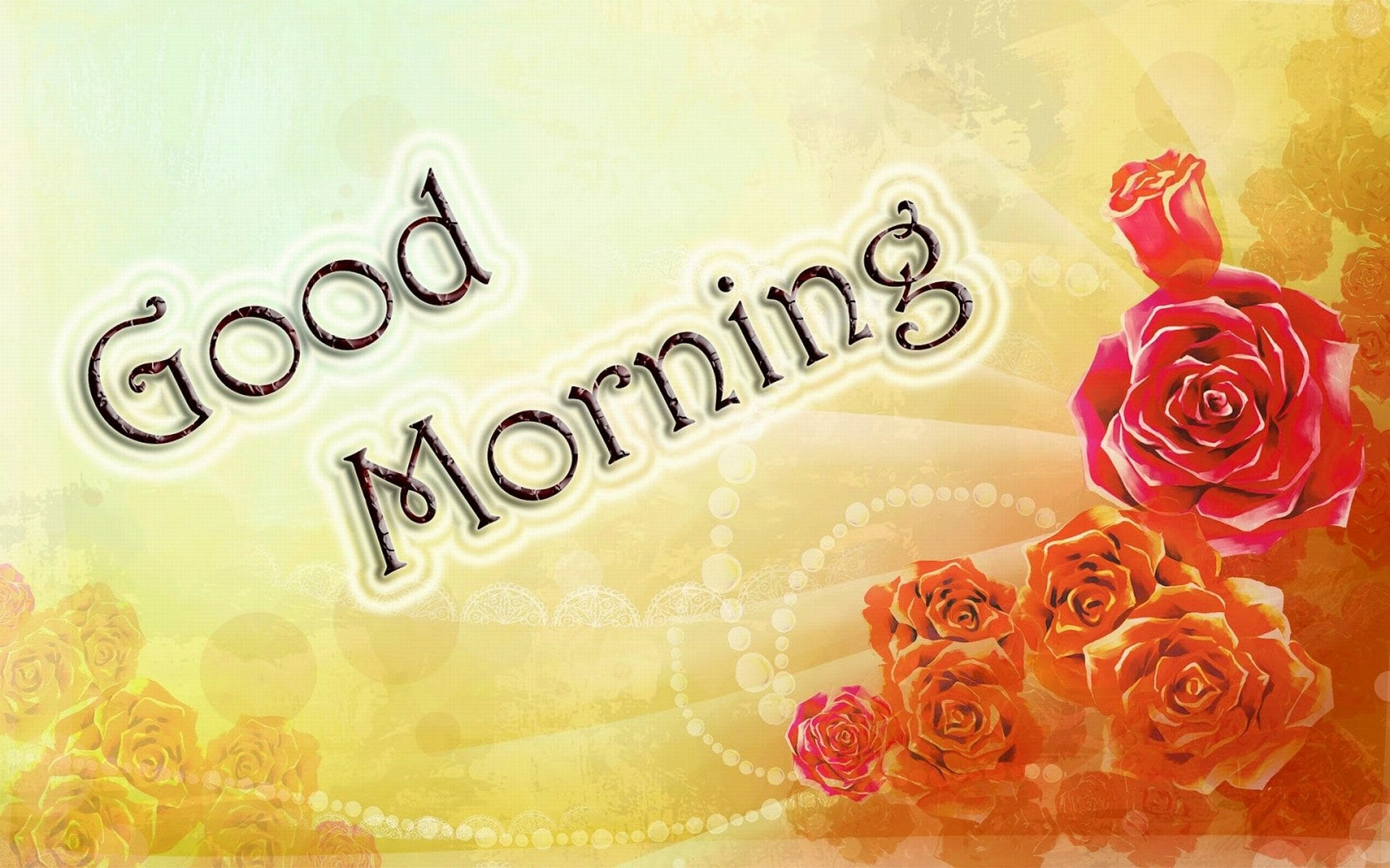 Good Morning Love Flower Wallpaper : Good Morning Wishes Wallpapers