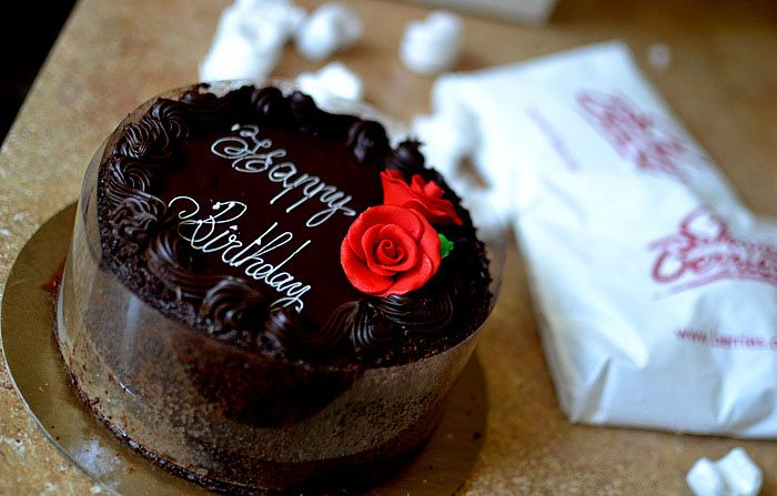 happy birthday 3 layer chocolate cake triple sharis berries cherry moon farms suprise gift reviews4