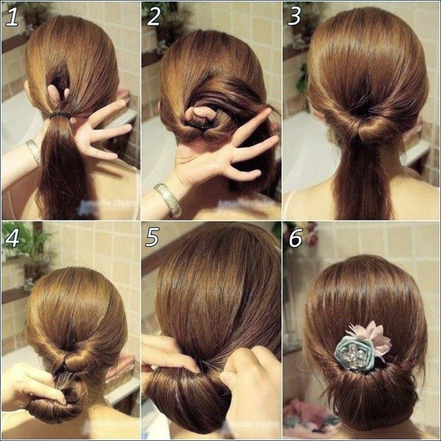 Simple Hairstyle For Indian Wedding Party