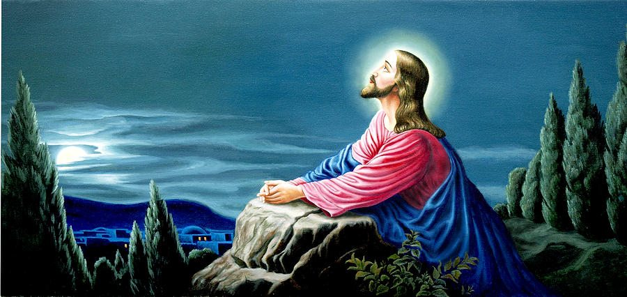 jesus-praying-m-rajesh-kumar