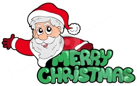 merry-christmas-clip-art-cutcaster-photo-100830358-Merry-Christmas-sign-with-Santa