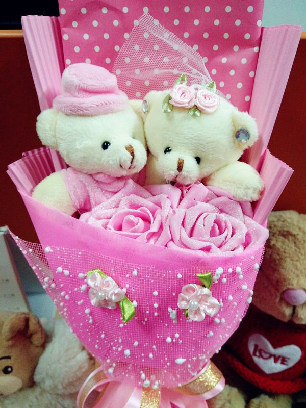 Free-Shipping-cheap-valentine-s-day-gift-idea-wedding-bouquet-flower-birthday-gift-soft-plush-teddy