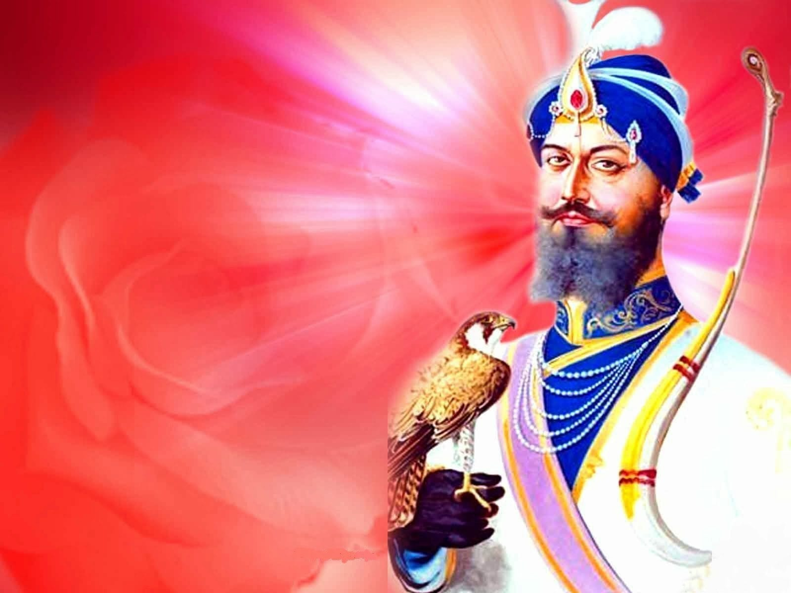 Image-Og-Guru-Gobind-Singh-Ji-With-Eagle