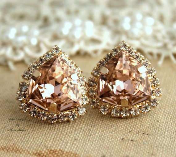 pink-blush-earringscrystal-vintage-pink-stud-earring-bridesmaids-gifts-bridal-earrings-14k-1-micron-thick-gold-plated-swarovski-earrings