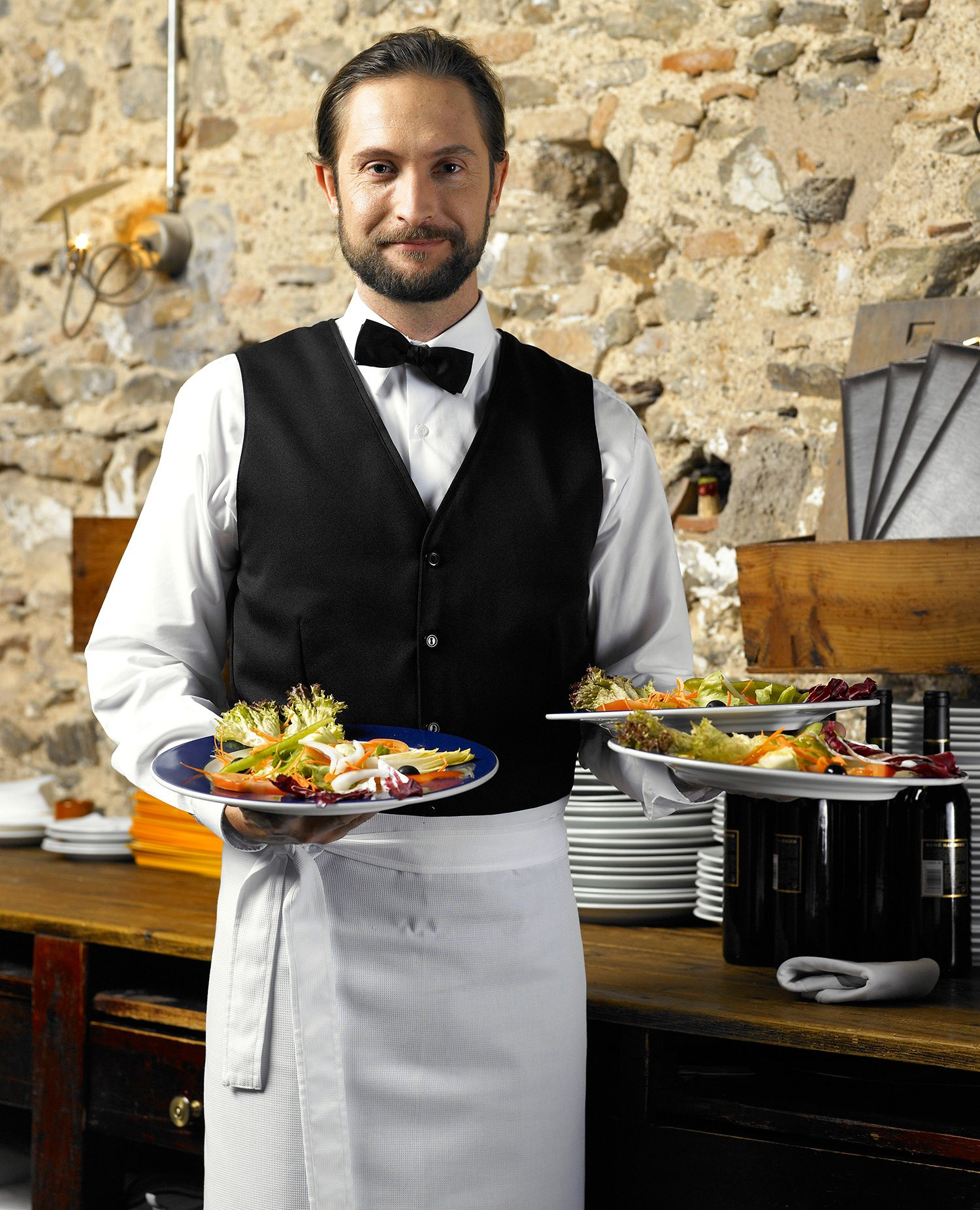 Dinners Eat More Food Served By Heavy Waiters!